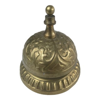 1950s Vintage Victorian Style Brass Desk Counter Bell For Sale
