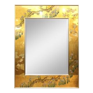 La Barge Hollywood Regency Chinoiserie Style Eglomise Mirror