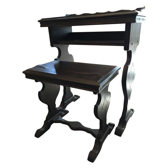 Vintage Writing Desk and Nesting Bench - Image 1 of 11