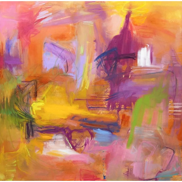 "Orange ""Marrakesh"" by Trixie Pitts Large Abstract Expressionist Painting For Sale - Image 8 of 9"