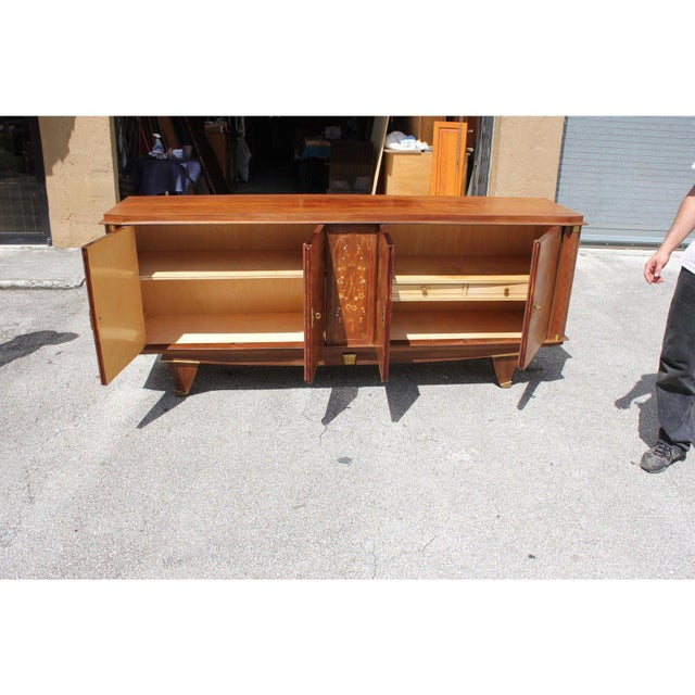 Art Deco 1940s French Art Deco Rosewood Sideboards or Buffet For Sale - Image 3 of 13