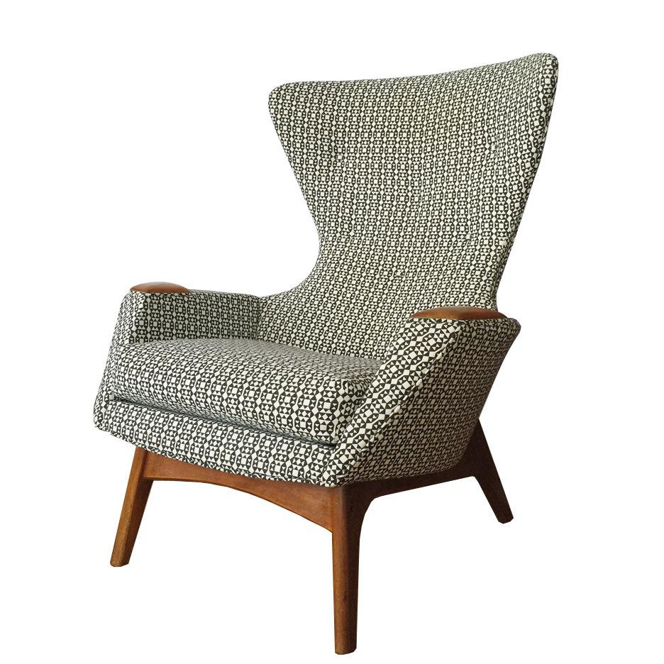 Perfect Black U0026 White Adrian Pearsall Wing Back Chair