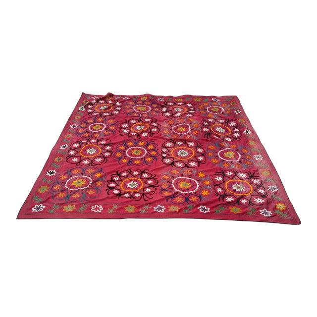 Vintage Uzbekistan Suzani Textile For Sale