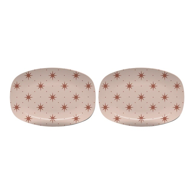 Chairish x The Muddy Dog Stars Outdoor Platters, Blush, Set of 2 For Sale