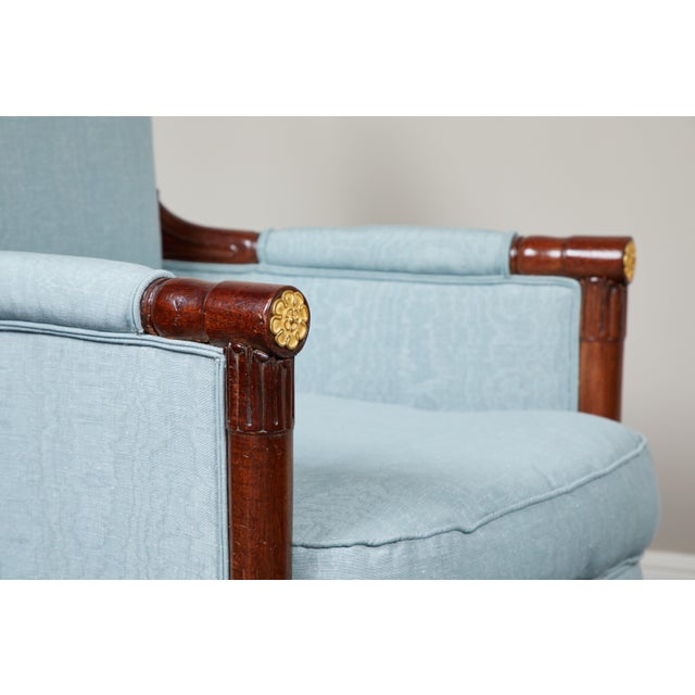 Pair of Empire Mahogany Bergeres Chairs For Sale In Los Angeles - Image 6 of 8