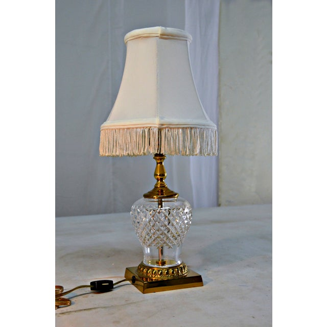 Vintage Waterford Crystal Petite Table Lamp Chairish