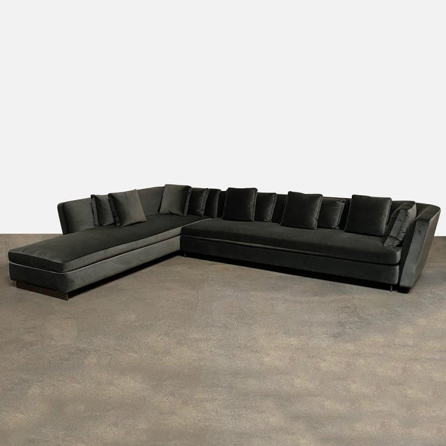 Mid-Century Modern Mid-Century Modern Minotti 'Seymour' Sectional W/ Left Chaise For Sale - Image 3 of 9