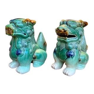 Mid Century Pair, Foo Dogs For Sale