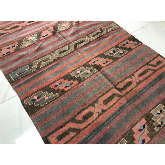 Turkish Tribal Handmade Kilim Rug - 4′ × 8′1″ For Sale - Image 10 of 11