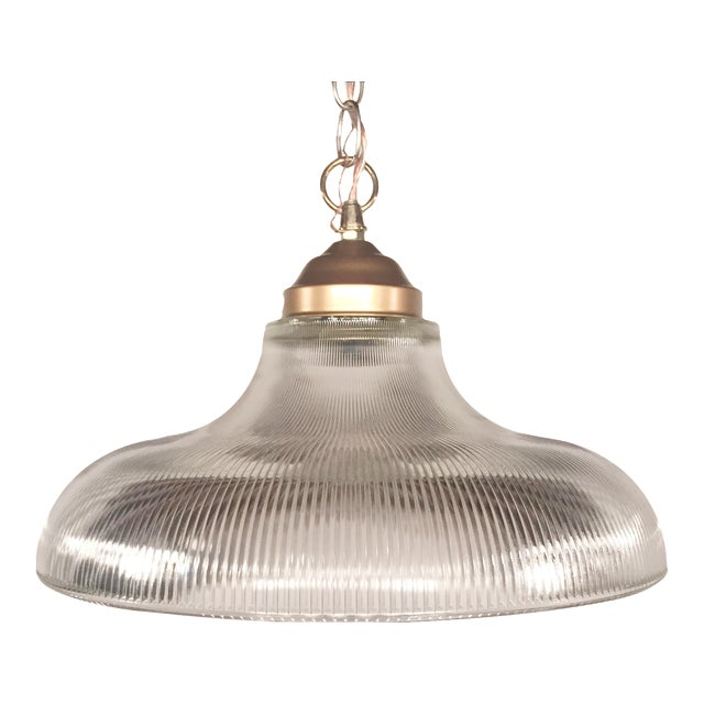Vintage Bronze & Glass Pendant - Image 1 of 7