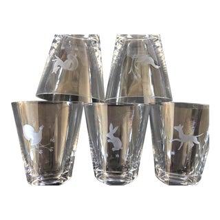 Set of 5 Swedish Shot Glasses For Sale