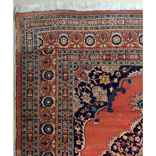 "Rug #538 - Antique Tabriz Origin: Persia Size: 4'5"" x 6'2"" Design: Haj Jalili Material: Wool Primary Color: Rust Secondary..."
