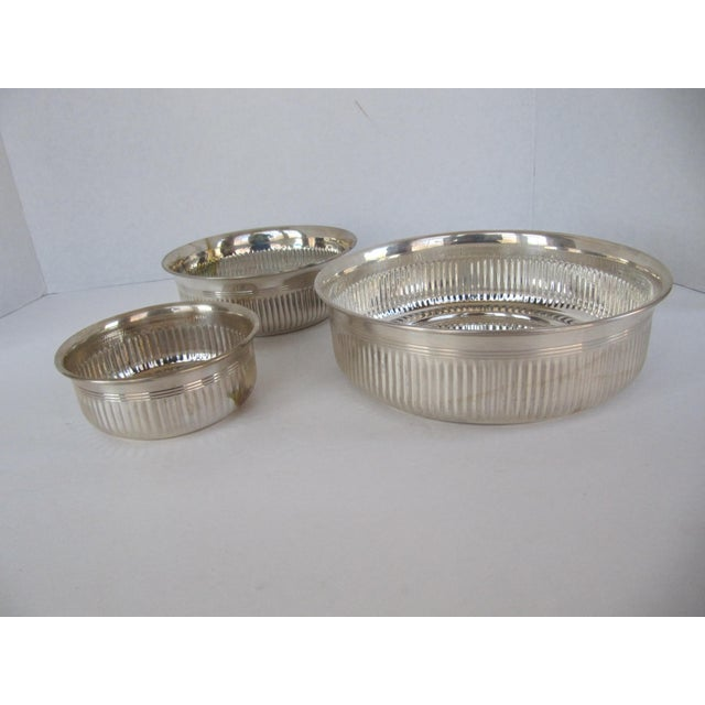 Silverplate Serving Bowls - 3 Pieces For Sale - Image 5 of 5