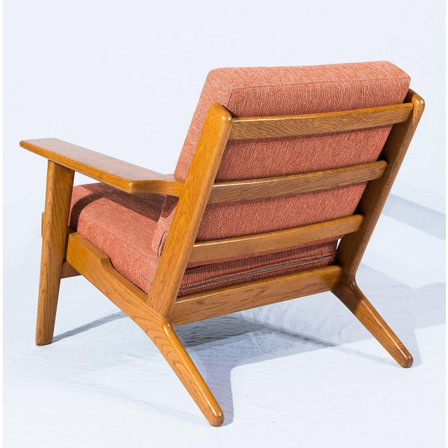 Hans Wegner GE-290 Lounge Chair For Sale - Image 4 of 10