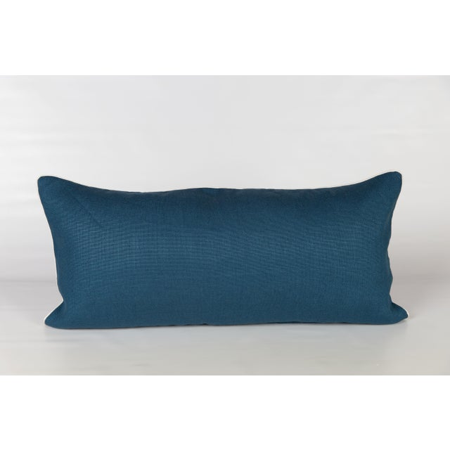 Windsor Linen Brocade Lumbar Pillow - Image 4 of 5