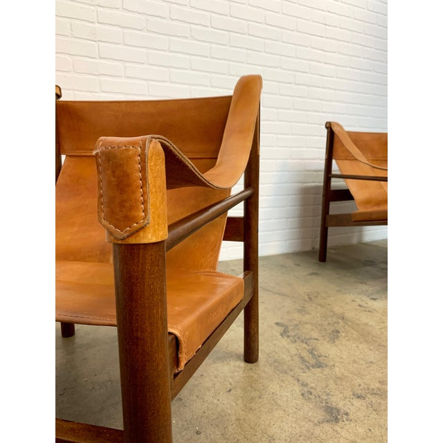 Brown Abel Gonzalez Safari Sling Lounge Chairs - a Pair For Sale - Image 8 of 13