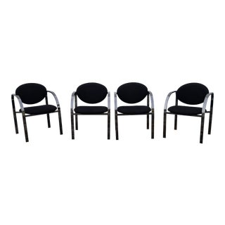 1990s Design Institute of America Dining Chairs - Set of 4 For Sale