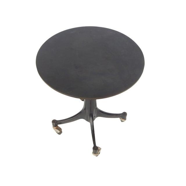 Black Industrial Age Adjustable Steel Side Table For Sale - Image 8 of 11