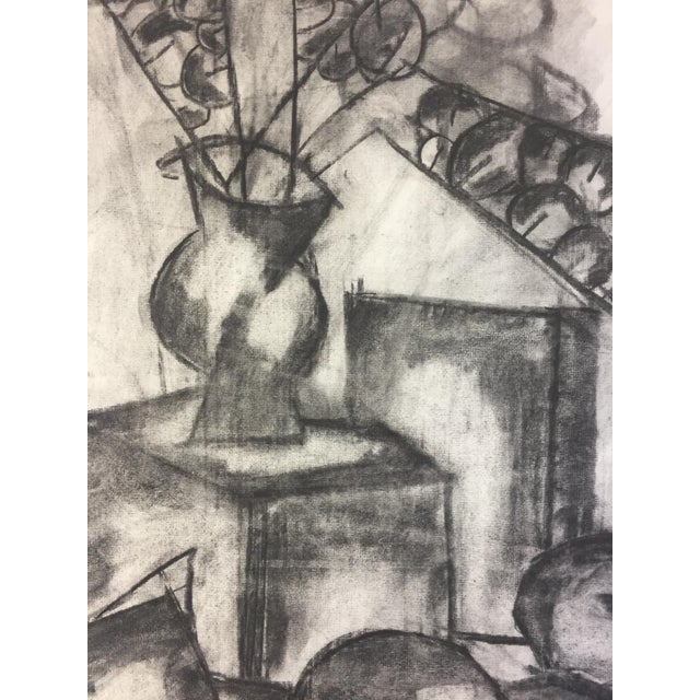 1950s Henry Woon Mid Century Charcoal Still Life For Sale In New York - Image 6 of 7