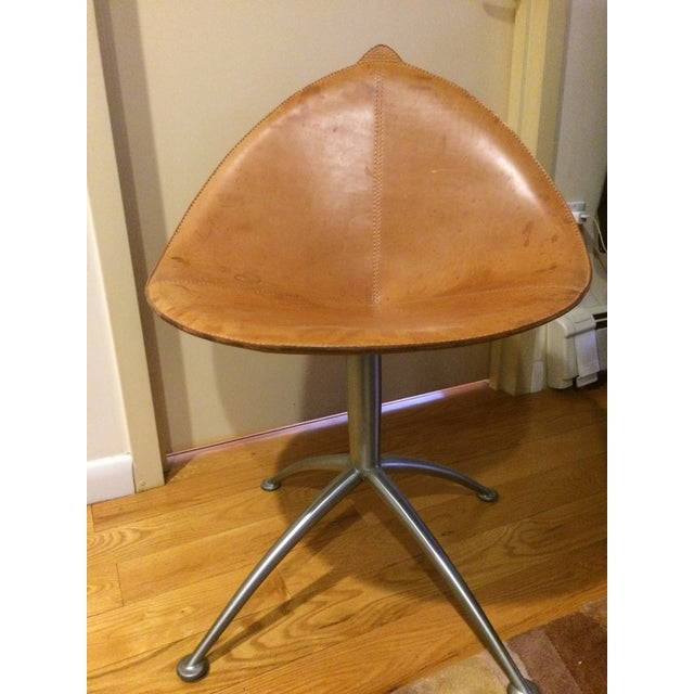 Contemporary Leather Fasem Chair - Image 2 of 8