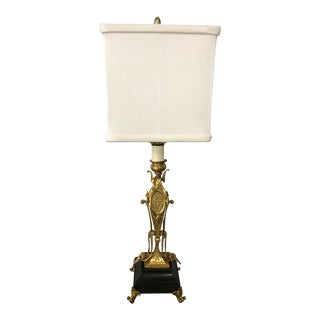 Antique Regency Gold Leaf Table Lamp For Sale