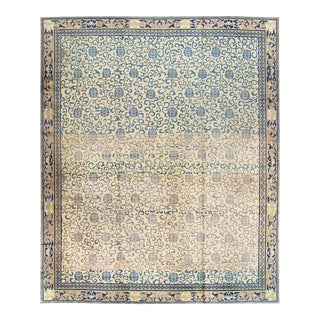 "Antique Ivory Kensu Rug- 14'8"" x 17'5"" For Sale"
