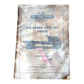 Vintage Six Speed Special Truck Manual
