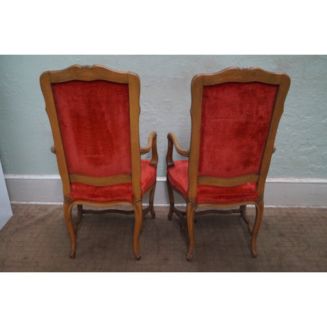 Karges Vintage French High Back Dining Chairs - 8 - Image 7 of 10