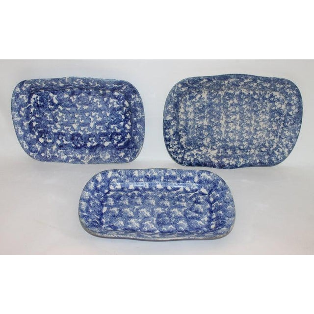 19th Century Sponge Ware Platters - Collection of 4 For Sale - Image 4 of 9