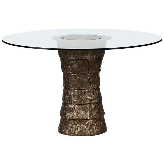 Sculptural Brutalist Pedestal Style Table For Sale