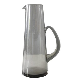 Holmegaard Martini Pitcher Smoke Glass Per Lutken Danish Modern For Sale