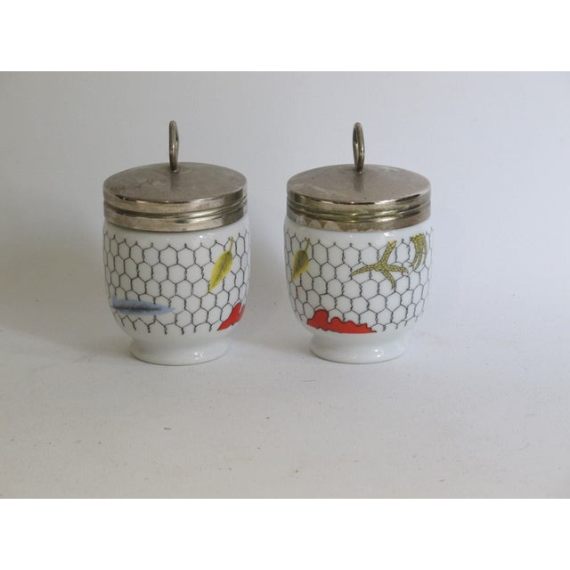 Fornasetti-Style Egg Coddlers - a Pair - Image 3 of 5