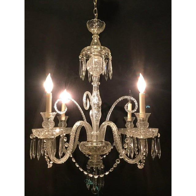 Hollywood Regency Waterford Style Crystal 5 Light Chandelier Chairish