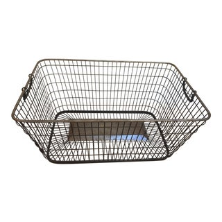 French Style Brass and Metal Basket For Sale