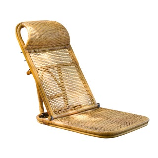 Vintage Rattan Beach Chair For Sale
