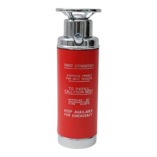 1950s Red Fire Extinguisher Form Decanter For Sale