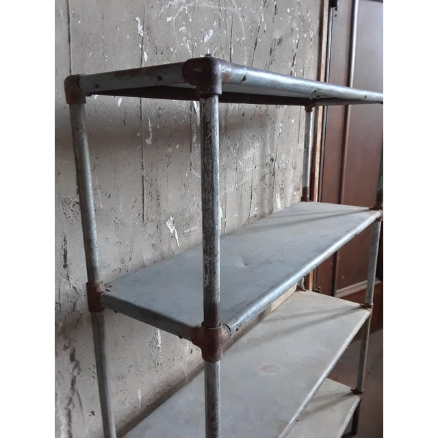 Industrial Late 20th Century Four Shelf Display Case For Sale - Image 3 of 4