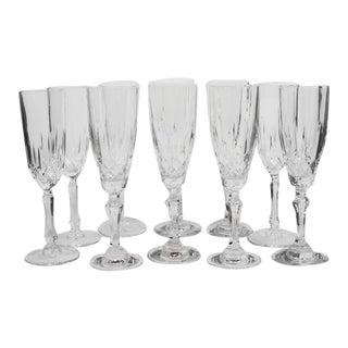 Vintage Champagne Toasting Flutes - Set of 10 For Sale