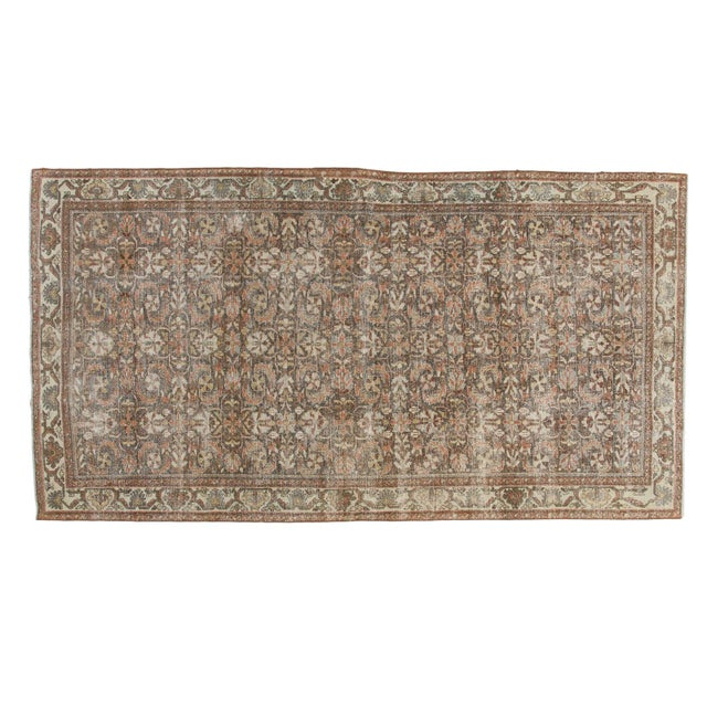 "Vintage Distressed Mahal Carpet - 5'5"" X 10' For Sale - Image 13 of 13"