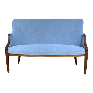 1940s Fritz Henningsen Curved-Back Settee, Denmark For Sale