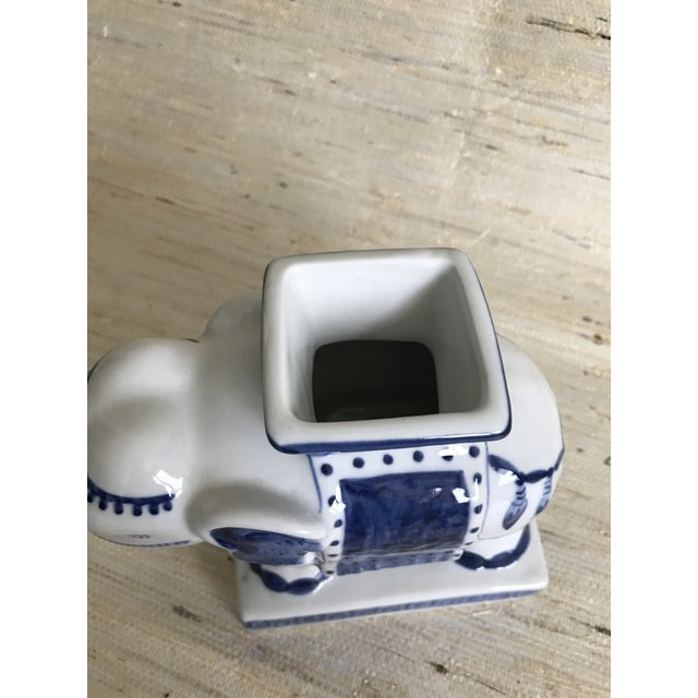 Blue & White Ceramic Elephant Incense Burner - Image 4 of 5