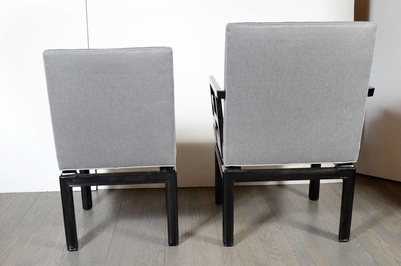Fabric Pair Of Stunning Michael Taylor Far East Baker Occasional Chairs For  Sale   Image 7