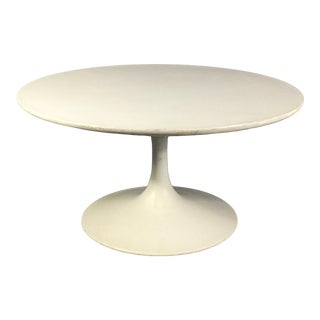 "30"" Tulip Base Coffee Table, Probably Burke C1970 For Sale"