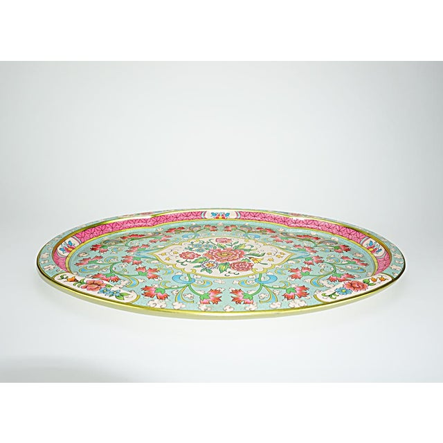 Vintage Floral Metal Tray by Daher - Image 5 of 6