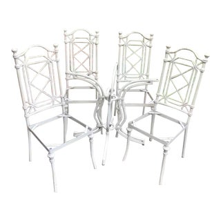 1960's Mid-Century Modern Kessler Cast Aluminum Patio Furniture-Set of 5 For Sale