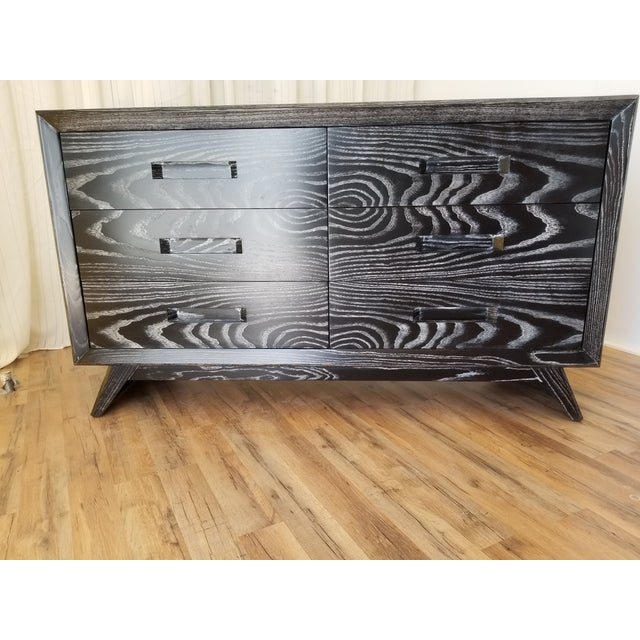 Mid Century Black Ceruse Dresser For Sale - Image 13 of 13