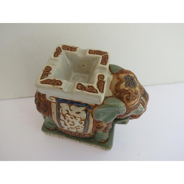 Mid Century Ceramic Elephant Ashtray For Sale - Image 4 of 5