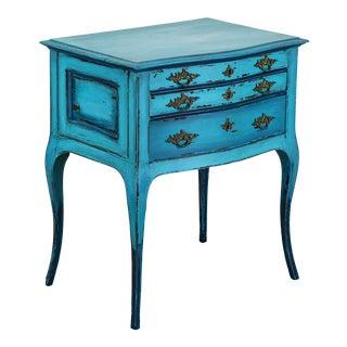 Louis XV Nightstand, Turquoise Nightstands, Three Drawers Nightstands For Sale