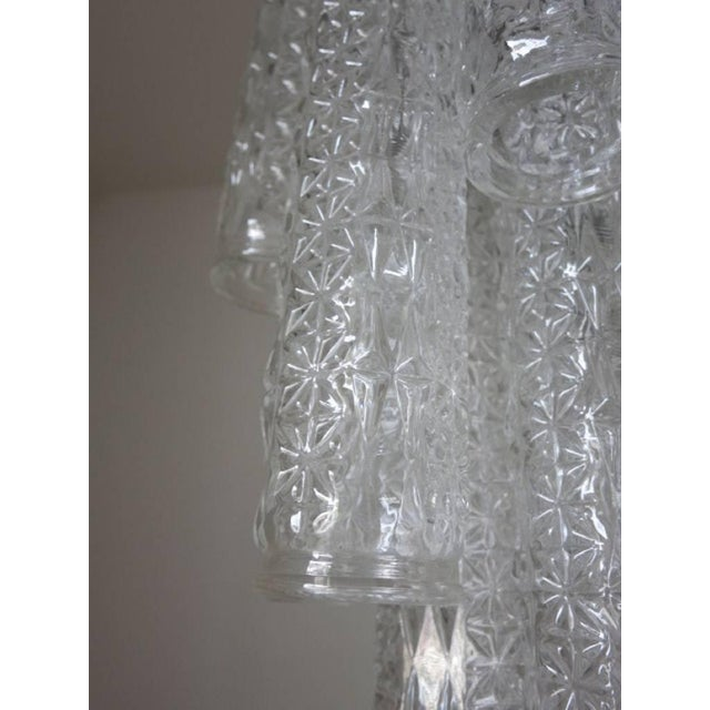 1960s Vintage Italian Tronchi Murano Glass Chandelier by Venini For Sale - Image 5 of 6