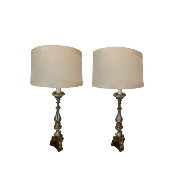 19th Century 19th Century Italian Alter Stick Lamps - a Pair For Sale - Image 5 of 5